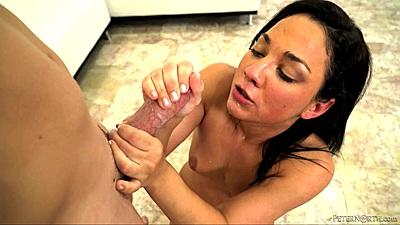 Charming deep throat with petite college whore Amara Romani