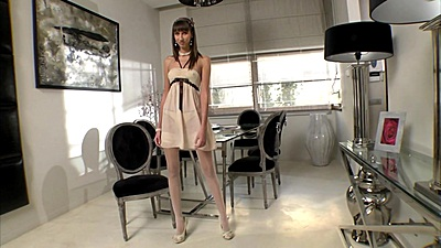 Tall very slim body girl Taniella walking around and teasing