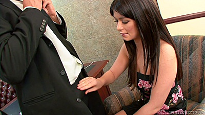 College Ashlyn Rae in office undressing and sex