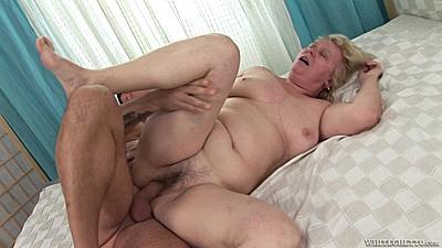 Granny plowed into her still tight hairy vagina Suzi