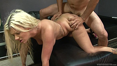 Lively doggy style college slamming with Layla Price
