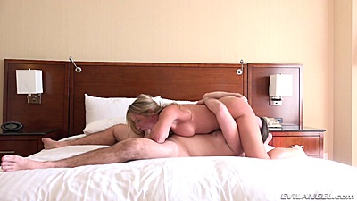 On fire college 69 with Blair Williams in bedroom sideview