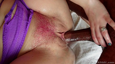 Large black cock with hairy slut sex Proxy Paige