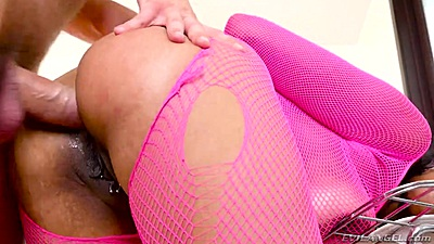 Tight ass ebony doll in body stocking anal ripped Havana Ginger