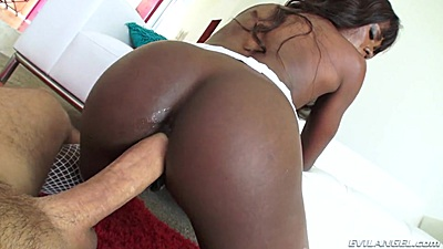 Huge penis reverse cowgirl ass entering Ana Foxxx