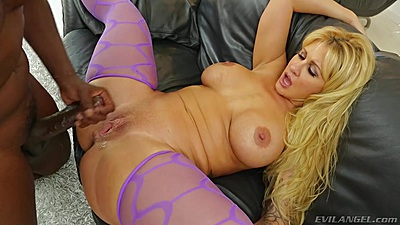 Enthusiastic milf spreading her legs for a big black penis Ryan Conner