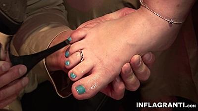 Sex foot fetish with eating her foot Laureen Van B