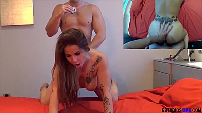 Bedroom fucking with Sabrina Moon and some hidden cam footage in bedroom