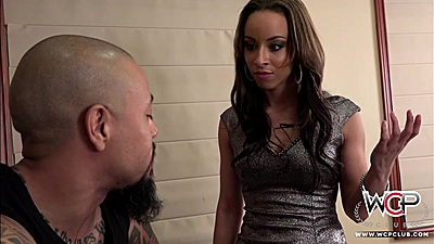 Skinny latina Teanna Trump comes in for a fuck