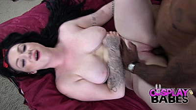 Interracial busty pale skin girl fuck Harmony Reigns and pull out method cumshot on stomach