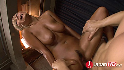 Slippery natural breasts asian cowgirl fuck with Rina Aina