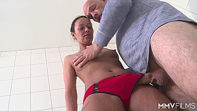 Bathroom fucking with Mareen De Luxe