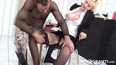 Touching and playing with a dirty milfs ass