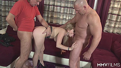 Standing fuck threesome sharing household whore Arianna and Bebiii Kitty and Natalie Hot