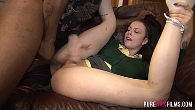 Raised legs way up in the air interracial stepsister sex Alessa Savage
