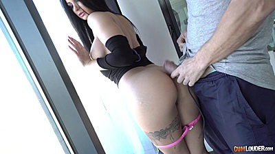 Window sex with good body Susy Gala and a big penis