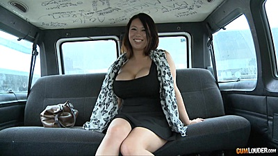 Big ass and huge melons Tigerr Benson gets naked in our van