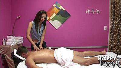Hidden camera massage room with Mila Jade