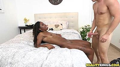 Very pleasing frontal ebony hottie sex with Mya Mays