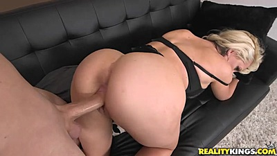 Experienced milf bent over couch banging with Alena Croft