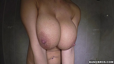 Sexy big juggs shower solo Katerina
