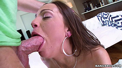 Deep throat cum swallowing whore Abigail Mac does it more than once
