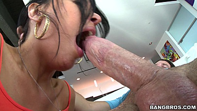 Wet and slurping blowjob with euro Anissa Kate