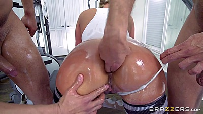 Ass fingering some horny oiled up milf anus Phoenix Marie
