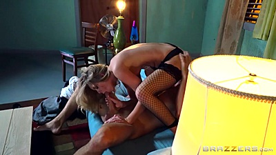Fishnet 69 with Trisha Parks burning with cock desire