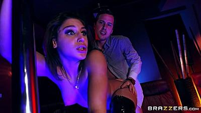 Slammed stripper Abella Danger looks surprised