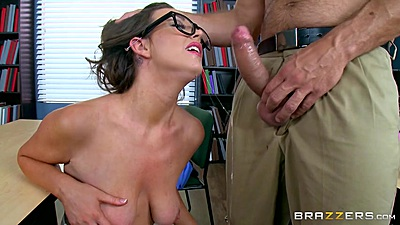 Classroom sucker and titty fuck with Alice Lighthouse