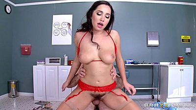 Doctor slamming hairy latina with big boobs Karlee Grey