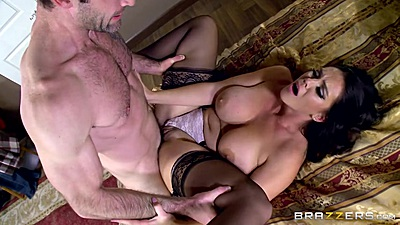 Frontal spread legs sex with large melons Alison Tyler and reverse blowjob suck