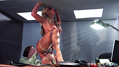 Phoenix Marie office table fuck with busty milf at interview