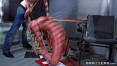 Job interview fucking and reverse blowjob from kinky milf Phoenix Marie