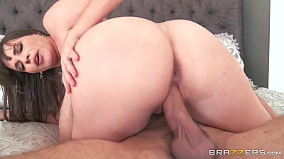 Refined milf with medium boobies Dana DeArmond cowgirl riding in bed