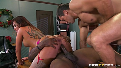 Dp and anal with all holes filled christmas bonus whore Tory Lane