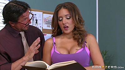 School fantasy fuck with latina Jean Michaels in class
