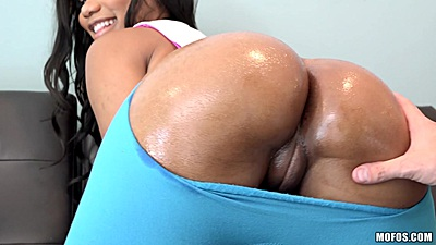 Ripped yoga pants and oiled ass asian groped Jenna J Foxx