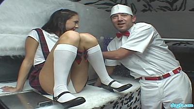 Impressive ice cream truck sex with young school girl cutie Jessica Valentino