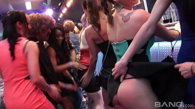 Klarisa Leone and Samia Duarte and Bella Baby dance around at amateur party