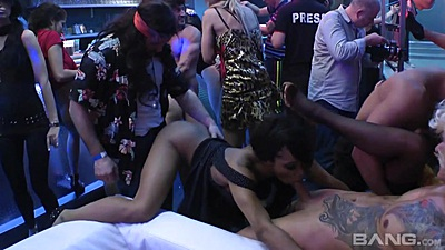 Doggy fuck and blowjob with slut shared during amateur reality party