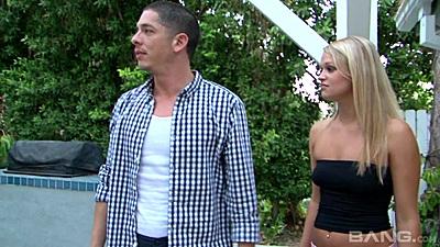 Nice looking blonde teen whore Heather Starlet getting naked