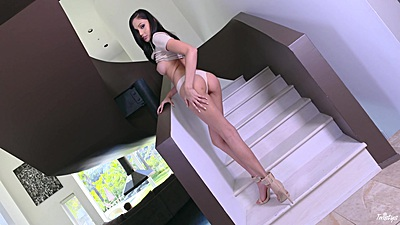 Appealing brunette Ariana Marie showing off her body