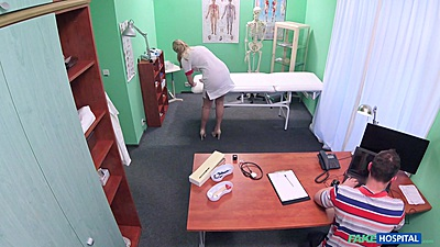 Naughty nurse Nikky Dream seducing the tech support