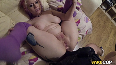 Anal plowing with Proxy Paige getting nailed by cop