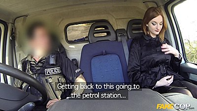 Zara driving around with policeman
