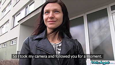 Arian Joy was walking on the street and we approached her with money offer