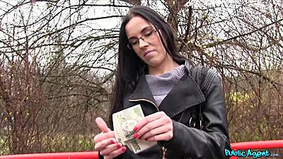 Public pick up for money with park blowjob girl
