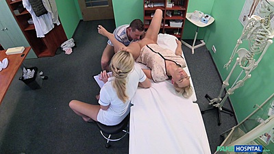 Couple sex with nurse observing Nikky Dream and Bianca